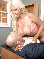 Scoreland - Busty Blonde Fucked By Towing Company - Bridgette B (83 Photos)