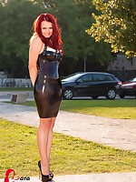 Black Latex Dress in Sibenik