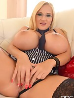 Big Titty Seductress: Blonde Beauty Begs for Cock free photos and videos on DDFBusty.com